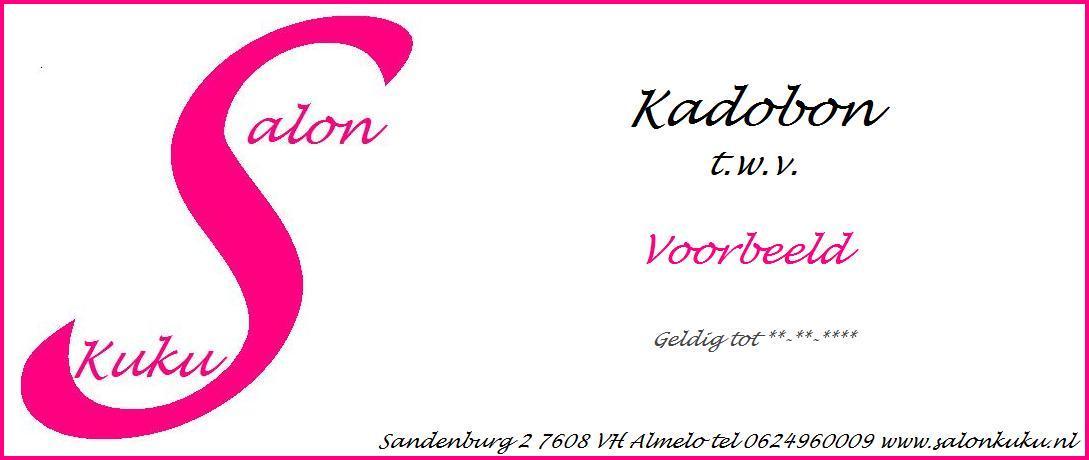 Populair Kadobon-3 - Tegoedbon maken GK59